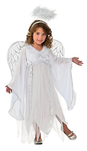 Rubie's Costume Kids Deluxe Silvery Angel Costume, (Angel Girl Bell)