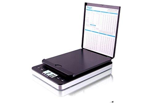 SAGA 66 lb. DIGITAL POSTAL SHIPPING SCALE by SAGA X 0.1 OZ WEIGHT USPS POSTAGE W/AC USB Pro Model, Black