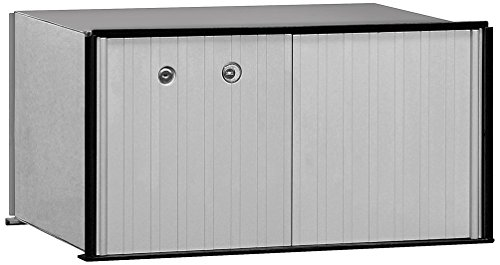 Locker Access Usps Parcel Aluminum - Salsbury Industries 2270U Aluminum Parcel Locker, 1 Door, USPS Access, Aluminum with Black Trim