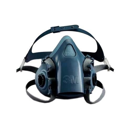 3M Safety 142-7503 7500 Series Reusable Half Face Mask Respirator, Dark Blue, Large