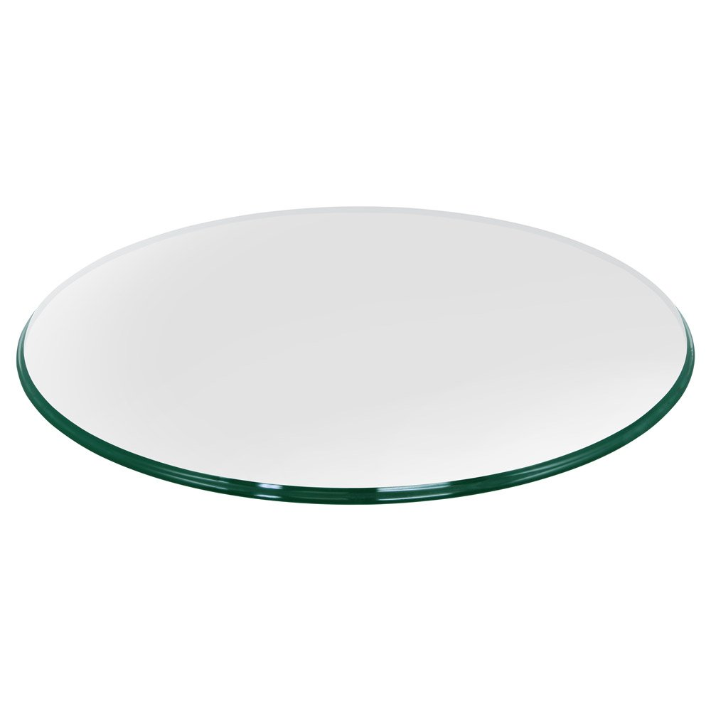 36'' Inch Round Glass Table Top, 3/8'' Thick, Ogee Edge, Tempered Glass by TroySys