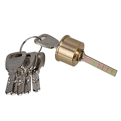 (Mxfans Euro Single Copper Round Profile Rim Cylinder Lined Keyed Door Lock Replacement)