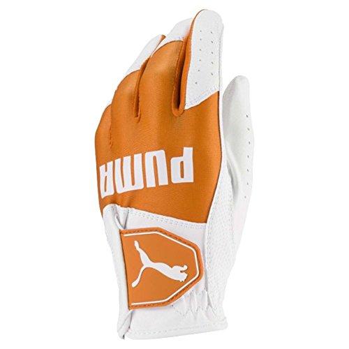 Puma Golf 2018 Kids Golf Glove (Bright White-Vibrant Orange, Medium)