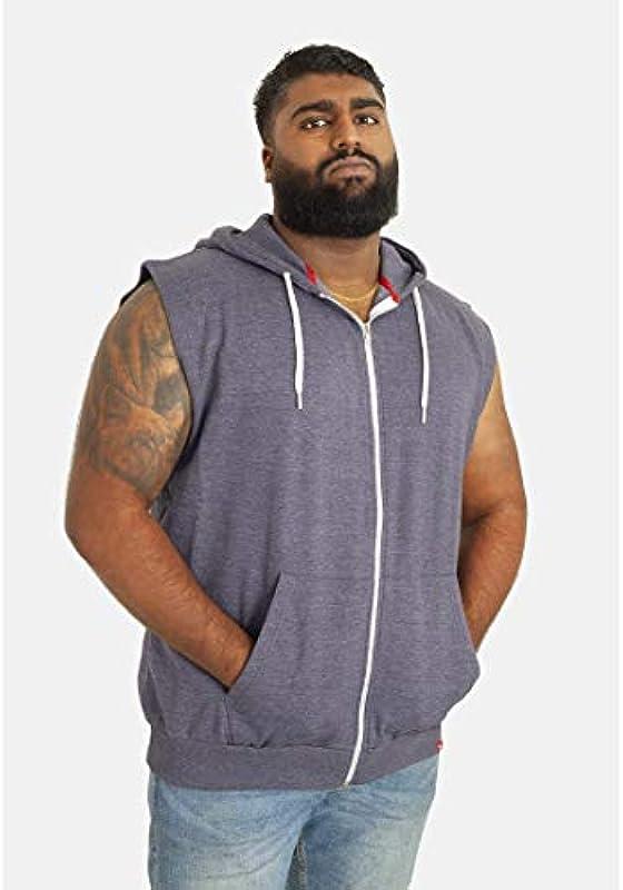 Duke męska bluza z kapturem Blake Kingsize bez rękawÓw: Odzież
