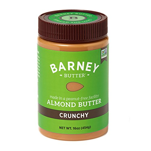 Barney Butter Almond Butter, Crunchy, 16 Ounce Jars (Pack of 3)