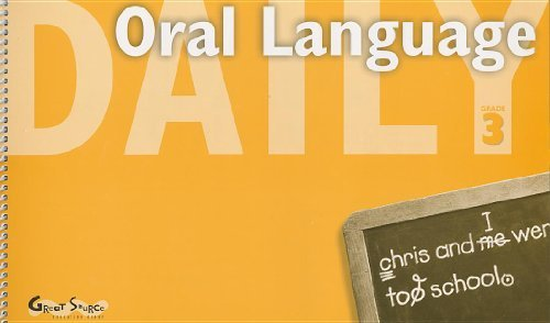 Download By GREAT SOURCE - Great Source Daily Oral Language: Teacher's Manual Grade 3 2000 (2nd Edition) (2000-08-05) [Spiral-bound] PDF