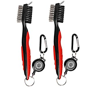 HIFROM Golf Accessories Set - Golf Club Groove Sharpener with Retractable Cord Golf Club Brush/Groove Cleaner for Golf Clubs