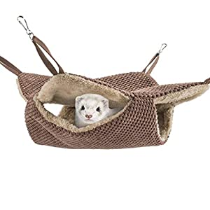 Niteangel Cage Hammock Pet Nap Hanging Bed Accessories Fit 2 Adult Ferrets or 3 More Adult Rats 48
