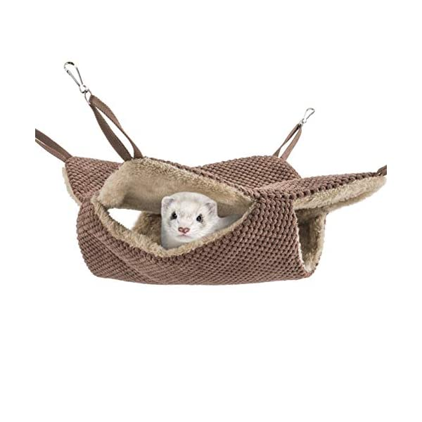 Niteangel Cage Hammock Pet Nap Hanging Bed Accessories Fit 2 Adult Ferrets or 3 More Adult Rats 1