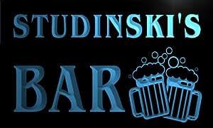 w117445-b STUDINSKI Name Home Bar Pub Beer Mugs Cheers Neon Light Sign
