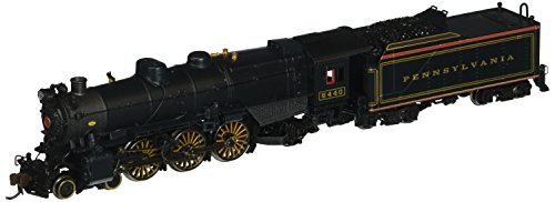 Bachmann Industries PRR K-4S 4-6-2 Pacific Steam Locomotive with DCC Sound - Pre-War with Slat Pilot (N Scale), Brunswick Green/Gold/Red Stripes (Gold Slat)