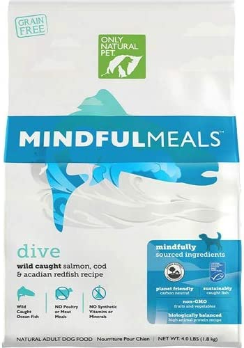Only Natural Pet Mindfulmeals Sustainable Dry Grain Free Dog Food, Paleo-Inspired High Protein with Non-GMO Fruits and Vegetables, 4 lb Bag