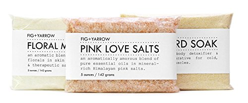 FIG+YARROW - Organic Bath Trio (Pink Love Salts/Floral Milk Bath/Mustard Soak)