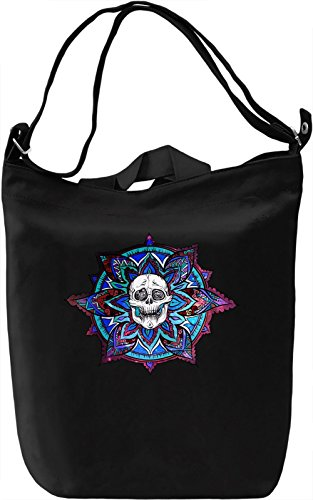 Skull And Feathers Borsa Giornaliera Canvas Canvas Day Bag| 100% Premium Cotton Canvas| DTG Printing|