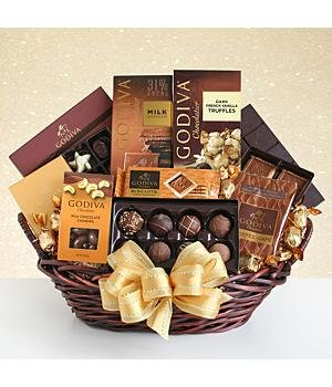 Grand Godiva Gift Basket for Mom by Sunshine Gifts and Beauty