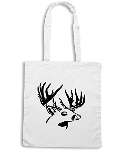 T-Shirtshock - Bolsa para la compra FUN0304 15 point buck 2 Blanco