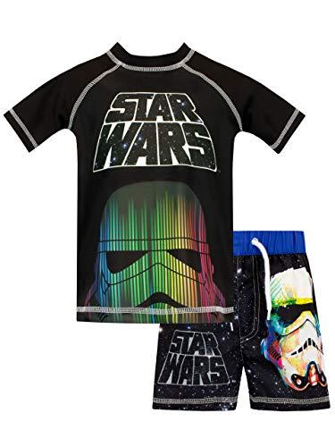 Star Wars Boys' Stromtrooper Two Piece Swim Set Size 10 Black -