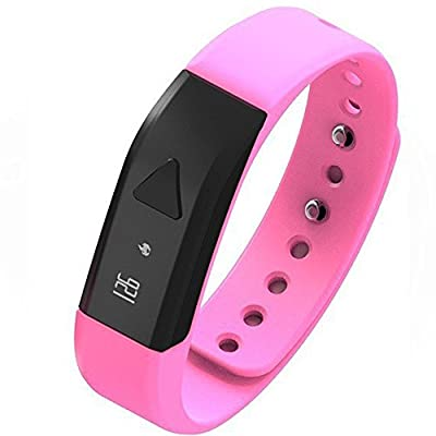 EFOSHM BLACK Upgrated K5 Plus Wireless Activity and Sleep Monitor Pedometer Smart Fitness Tracker Wristband Watch Bracelet for Men Women Boys Girls Ladies Man Iphone Sumsung HTC