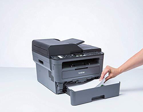Brother MFCL2710DW - Impresora multifunción láser monocromo con fax e impresión dúplex (30 ppm, USB 2.0, Wifi, Ethernet, Wifi Direct, procesador de 600 MHz, memoria de 64 MB) gris 2