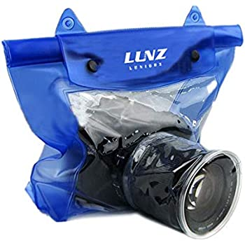 Luniquz DSLR SLR Camera Waterproof Bag Housing Case Pouch Cover for Canon Nikon -Blue