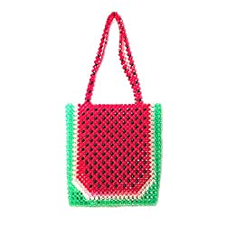 Pearls Beaded Crystal Watermelon Box Totes Bag