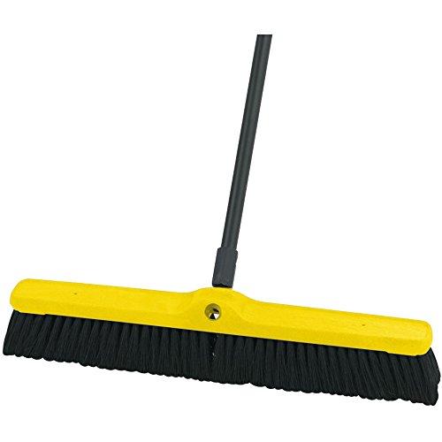 (Rubbermaid Commercial FG9B1000BLA Tampico Fiber Plastic Foam Block Medium Floor Sweep, Black)