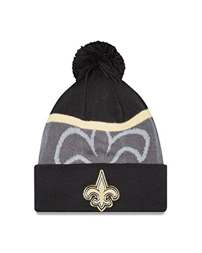NFL New Orleans Saints Gold Collection Team Color Knit Beanie, One Size fits All, Black/Gray (Saints Stocking Cap compare prices)
