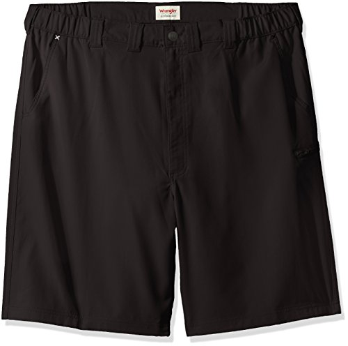 Wrangler Men's Big and Tall Authentics Performance Side Elastic Utility Short, Black, 48 (Big And Tall Relaxed Fit Shorts)