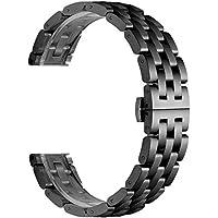 KNY Samsung Galaxy Watch 3 Bluetooth 45mm (22mm) İçin Zincir Model Metal Kayış-Kordon Siyah