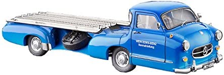 Amazon Com Cmc Classic Model Cars 1955 Mercedes Benz Racing Transporter Blue Wonder 1 18 Scale Detailed Assembled Collectible Historic Antique Vehicle Replica Toys Games