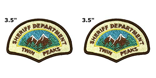 Twin Peaks National Park Series 2-Pack Embroidered Patch Iron-on Sew-on Explore Nature Outdoor Adventure Explorer Souvenir Travel Vacation Emblem Badge (Fabric Twin Peaks)