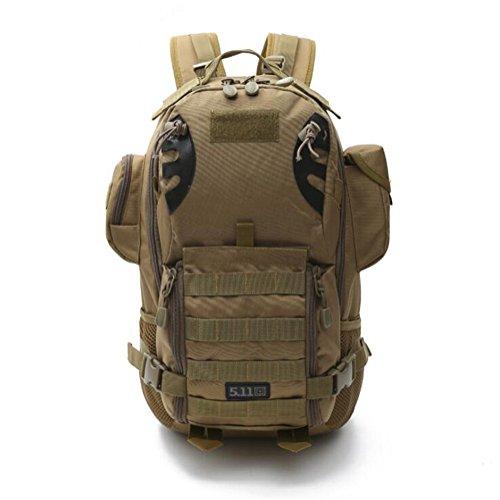 Wmshpeds Deportes al aire libre multi-funcional camuflaje mochila militar ventilador escalada senderismo bolsa 3P mochila táctica D