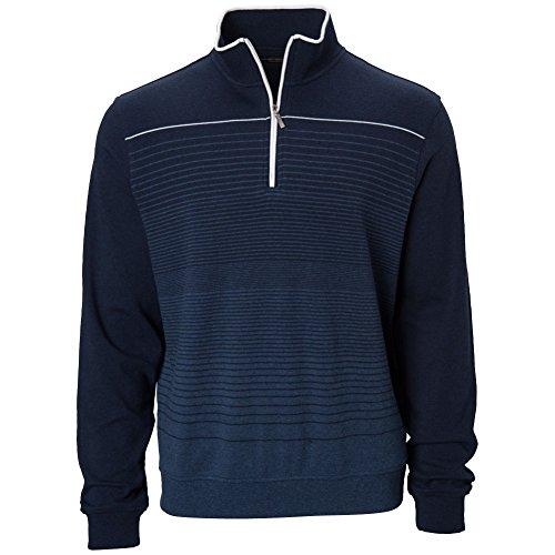 Carnoustie Men's Vardon Chest Stripe 1/4 Zip Pullover Navy XL