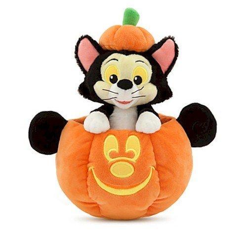 Disney Figaro in Mickey Mouse Jack O'Lantern Plush - Small - (Disney Halloween Jack-o-lanterns)