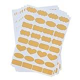 essential oil bottle labels - Uniclife Essential Oil Bottle Stickers Labels Fancy Kraft Paper, 8 Sheets of labels, 256pcs