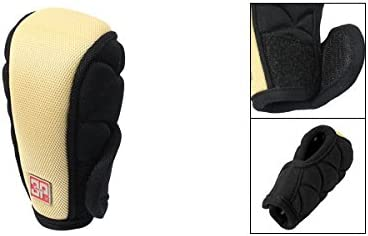 uxcell Automotive Auto Gear Shift Knob Cover Protector Case Black Beige
