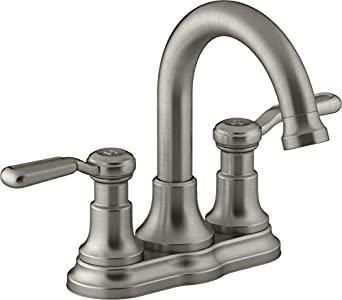 KOHLER Worth 4 in  Centerset 2-Handle Bathroom Faucet in Vibrant
