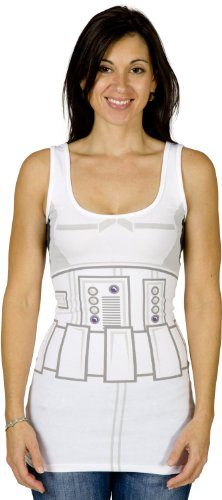 Stormtrooper Star Wars Mighty Fine Juniors Babydoll Tank Top Select Shirt Size: X-Large