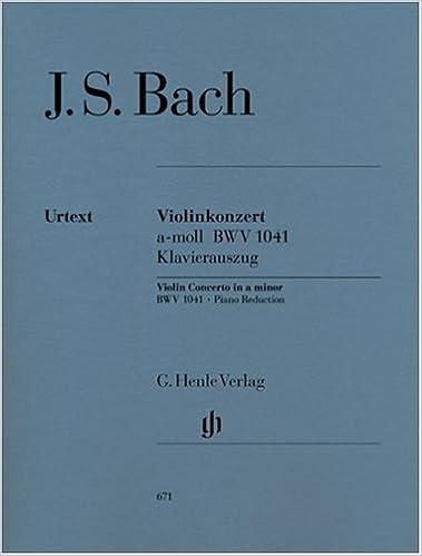 _LINK_ Bach: Violin Concerto In A Minor, BWV 1041 [G. Henle Verlag]. Sitio CLUBES Guias labai proceso Kevesen Steve