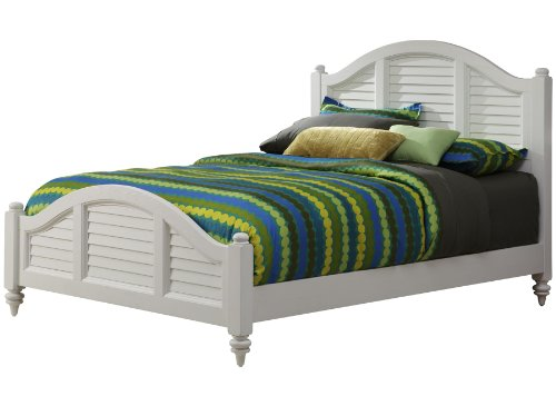 (Bermuda White Queen Bed by Home Styles)