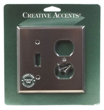Creative Accents Wall Plate Stainless Steel Finish Beveled Edge Design Carded (Creative Accents Wall Plate)