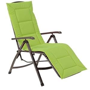 Greemotion 410561 - Cojín para tumbonas, color verde