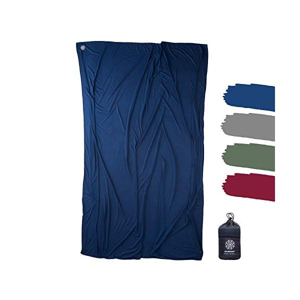 41%2BPj9uPbRL Bahidora Reisedecke. 200x150cm. Ultraleichte dünne Decke aus Coolmax Material - ideal für Reisen. Geringes Packmaß…