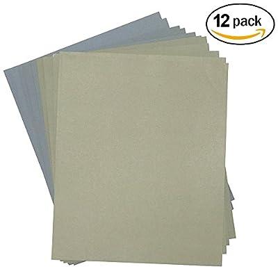 Grit 1500 to 7000 Wet/dry Sandpaper Sheets Precision Polishing Sanding -2pcs of ech Grit 1500 2000 2500 3000 5000 7000 Sandpaper