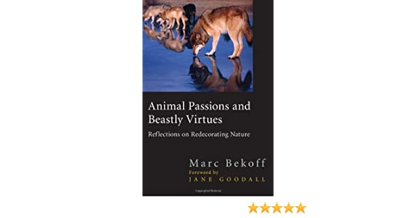 Animal Passions And Beastly Virtues Reflections On Redecorating Nature Animals Culture Society Jane Goodall Marc Bekoff 9781592133482 Amazon