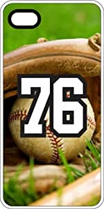 Baseball Sports Fan Player Number 7 White Rubber Decorative iphone 5c Case