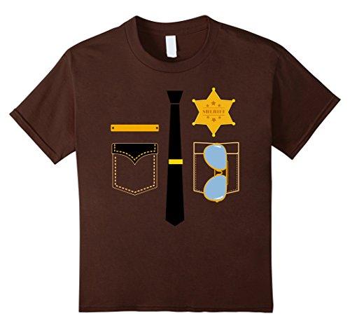 Kids Police Sheriff Uniform Costume Halloween T-Shirt 8 - Shirt Sheriff Costume