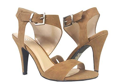 Delizioso Kurtail! Donna Open Toe Cinturino Alla Caviglia Con Tacco Alto Sandalo In Nabuk Marrone Chiaro