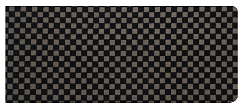Brown and Black Checked Print Chequebook Cover - Cotton Finish MPL5005