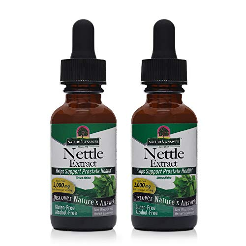 Nature's Answer Nettles Extract | Herbal Supplement | Helps Support Prostate Heath| Non-GMO, Kosher, Gluten-Free, & Alcohol-Free 1oz (2 Pack)